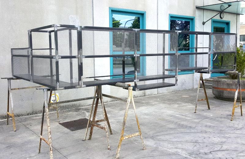 Lavorazione metalli - lavorazioni acciaio inox Treviso - struttura