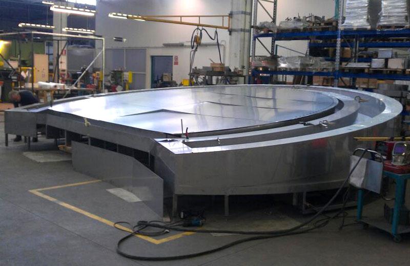 Lavorazione metalli - lavorazione acciaio inox Treviso - struttura circolare