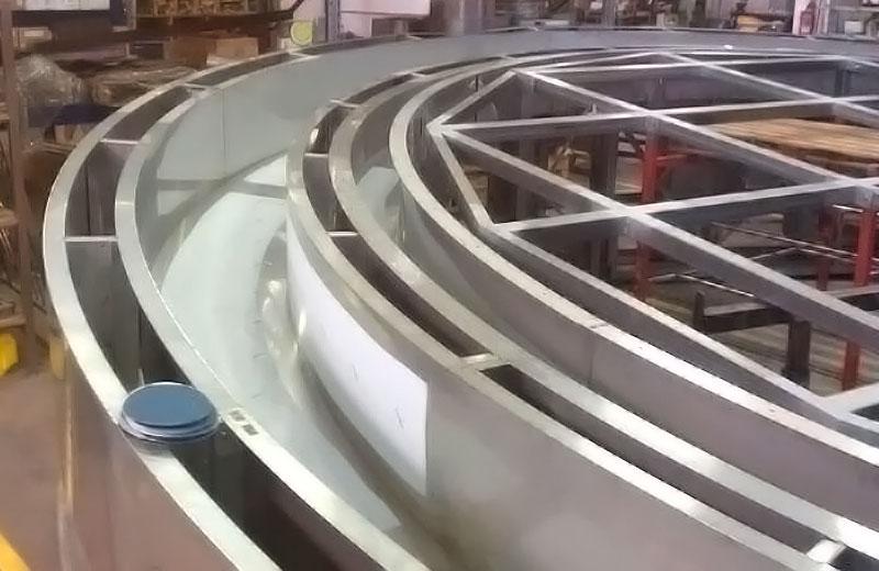 Lavorazione acciaio inox - lavorazione metalli Treviso - struttura circolare