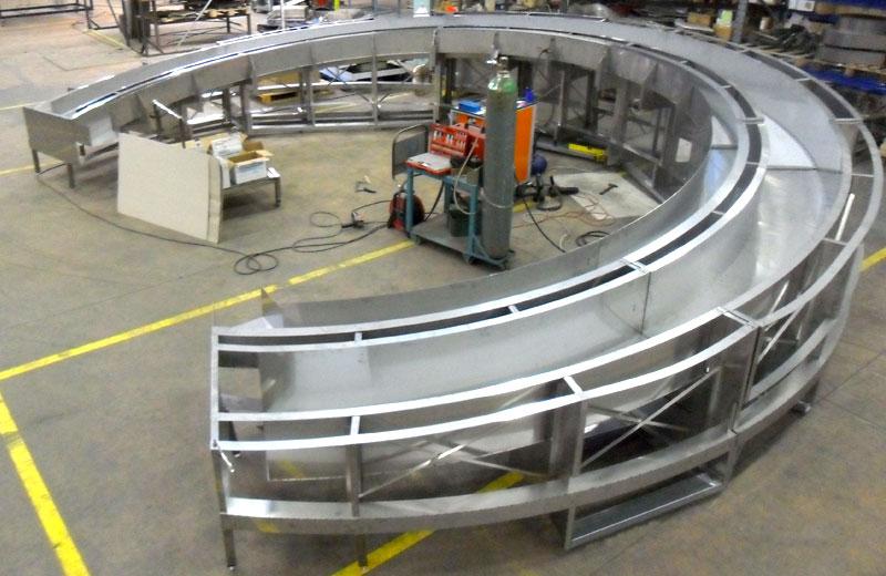 Lavorazioni metalliche - lavorazione acciaio inox Treviso - struttura circolare