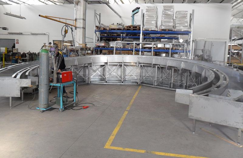 Lavorazione metalli - lavorazioni acciaio inox Treviso - struttura circolare