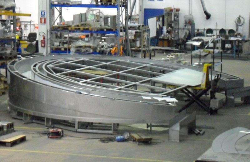 Lavorazioni acciaio inox - lavorazione metalli - struttura circolare