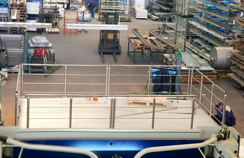 Lavorazione metalli - lavorazione acciaio inox Treviso - soppalco