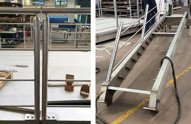Lavorazione metalli - lavorazione acciaio inox Treviso - soppalco in acciaio inox