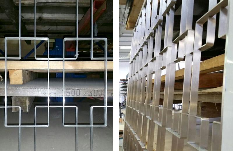 Lavorazioni metalliche - lavorazione acciaio inox Treviso - scaffalatura