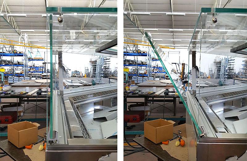 Lavorazioni metalliche - lavorazione acciaio inox Treviso - vetrina bar ristoranti
