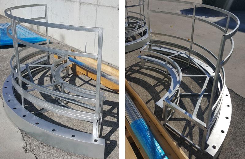 Lavorazioni metalliche - lavorazione acciaio inox Treviso - struttura in acciaio inox