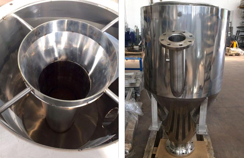 Lavorazioni metalliche - lavorazione acciaio inox Treviso - svuota sacchi