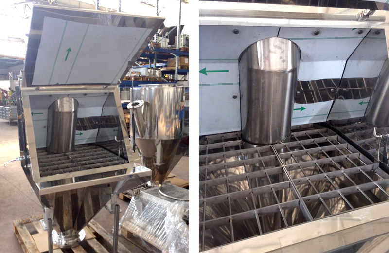 Lavorazione metalli - lavorazioni acciaio inox Treviso - svuota sacchi per industria alimentare