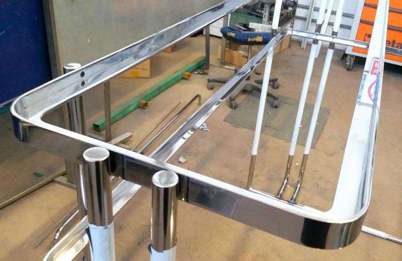 Lavorazione acciaio inox - lavorazione metalli Treviso - struttura per tavolo design