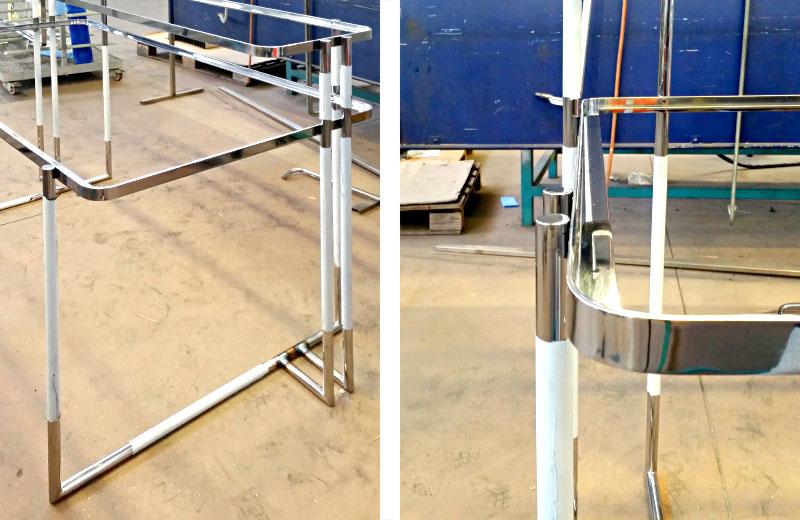 Lavorazioni metalliche - lavorazione acciaio inox Treviso - struttura per tavolo design