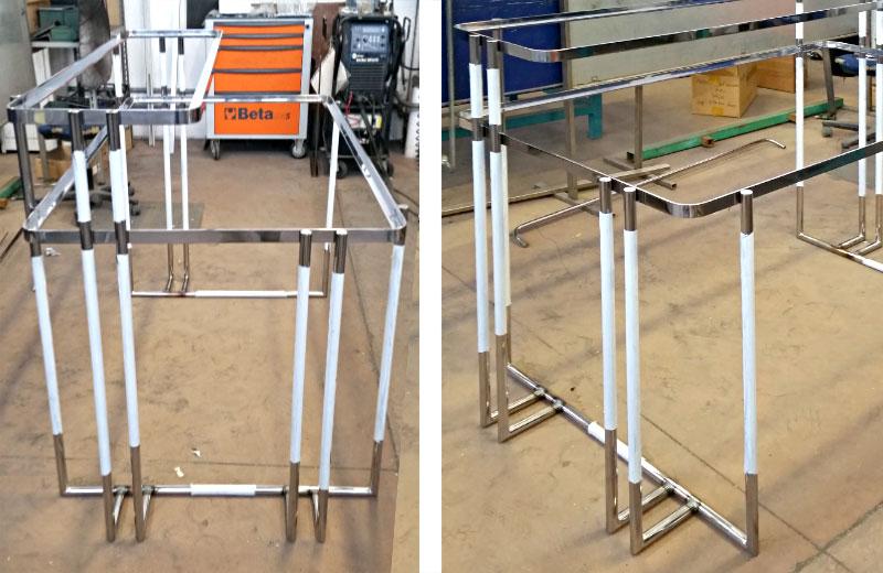 Lavorazioni acciaio inox - lavorazione metalli - tavolo design