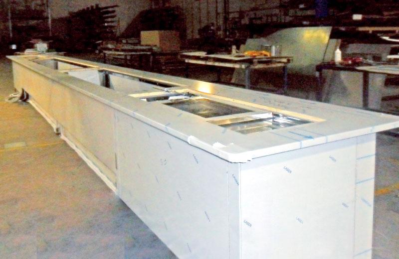 Lavorazione metalli - lavorazione acciaio inox Treviso - bancone da bar