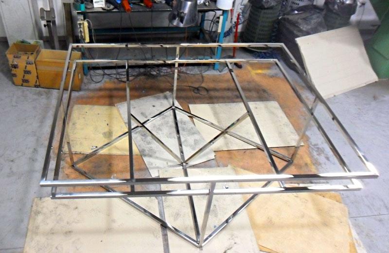 Lavorazioni acciaio inox - lavorazione metalli - tavolo in acciaio inox