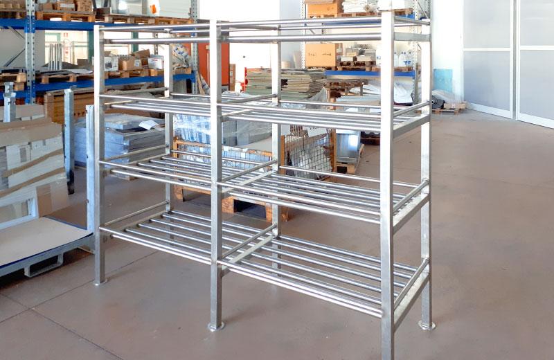 Lavorazioni acciaio inox - lavorazione metalli - scaffalatura