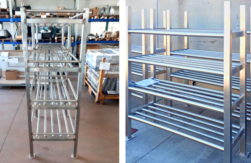 Lavorazione metalli - lavorazione acciaio inox Treviso - scaffalatura