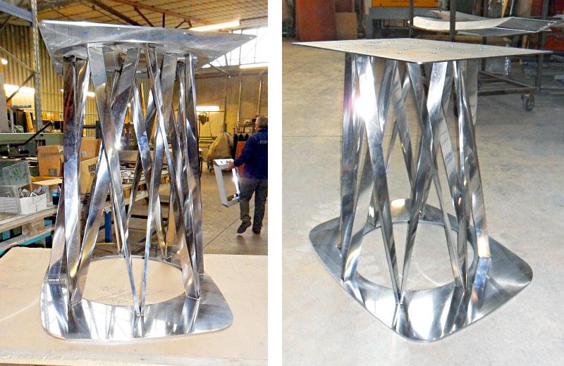 Lavorazione acciaio inox - lavorazione metalli Treviso - basamento in acciaio