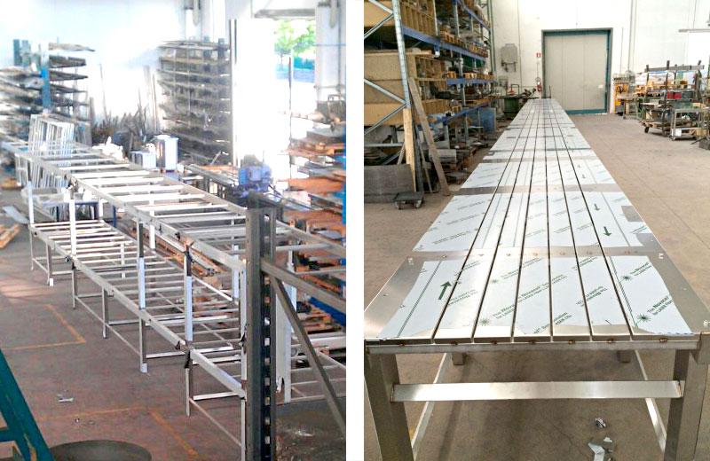 Lavorazioni metalliche - lavorazione acciaio inox Treviso - telai in acciaio inox