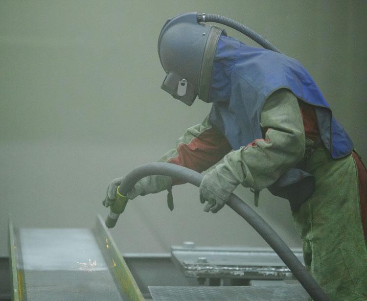 Lavorazioni acciaio inox - lavorazione metalli - sabbiatura 1